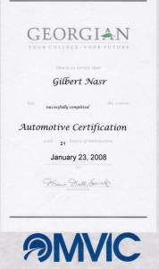 Automotive Certification